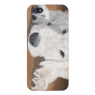 Perrito de Labradoodle iPhone 5 Carcasas