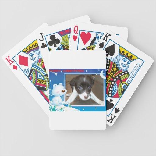 Perrito de las Felices Navidad Baraja Cartas De Poker