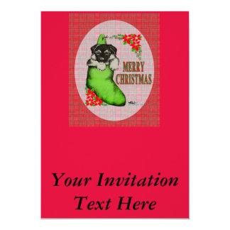 """Perrito de las Felices Navidad Invitación 5"""" X 7"""""""