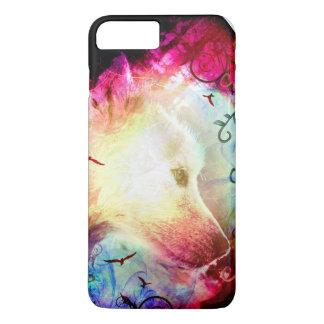 Perrito de lobo mágico bonito de la fantasía funda iPhone 7 plus