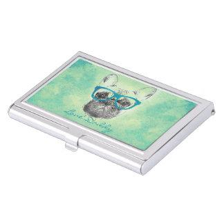 Perrito de moda divertido fresco del dogo francés caja de tarjetas de negocios