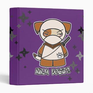 ¡Perrito de Ninja! Con la carpeta de Shurikens