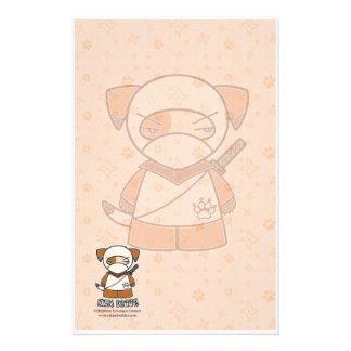 ¡Perrito de Ninja! Efectos de escritorio Papeleria Personalizada