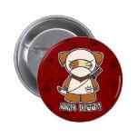 ¡Perrito de Ninja! En botón rojo Pin