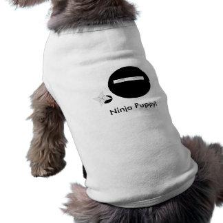 ¡Perrito de Ninja Camisetas De Perro