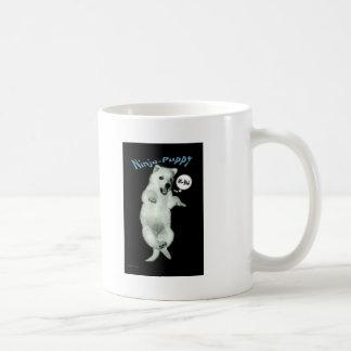 Perrito de Ninja Tazas De Café