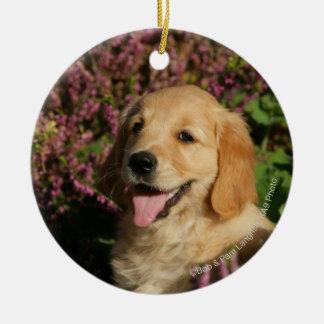 Perrito de oro de Retreiver Ornamento Para Arbol De Navidad