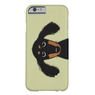 Perrito de pelo largo lindo del Dachshund Funda De iPhone 6 Barely There