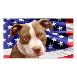 Perrito de Pitbull del americano Tarjetas De Visita