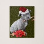 Perrito de Pitbull del navidad Puzzle