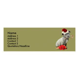 Perrito de Pitbull del navidad Tarjetas De Visita Mini