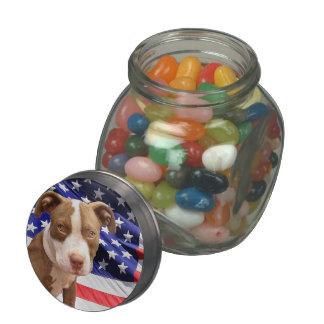 Perrito de Pitbull Terrier del americano Jarrones De Cristal