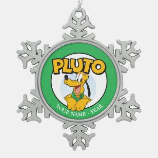Perrito de Plutón el | con nombre Adorno De Peltre En Forma De Copo De Nieve