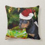 Perrito de Rottweiler del navidad Almohadas