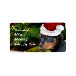 Perrito de Rottweiler del navidad Etiquetas De Dirección