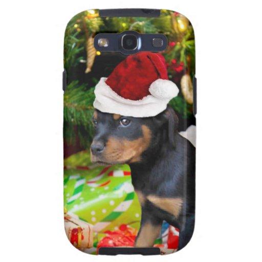 Perrito de Rottweiler del navidad Galaxy SIII Cobertura