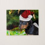 Perrito de Rottweiler del navidad Puzzles Con Fotos