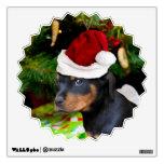 Perrito de Rottweiler del navidad Vinilo Adhesivo