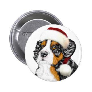 Perrito de Santa del perro de montaña de Bernese Pin Redondo 5 Cm