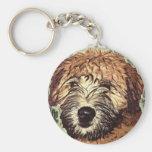 Perrito de trigo Suave-Revestido de Terrier con la Llavero Personalizado