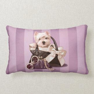 Perrito de Westie en bolso Cojines