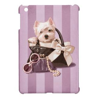 Perrito de Westie en bolso iPad Mini Protectores