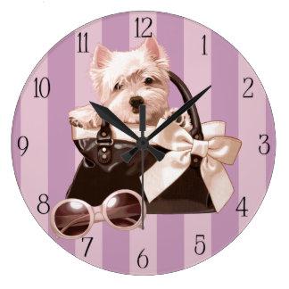 Perrito de Westie en bolso Reloj