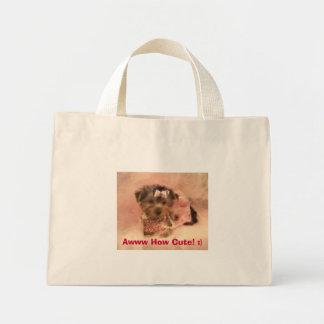 ¡Perrito de Yorkie, Awww cómo es lindo! :) Bolsa