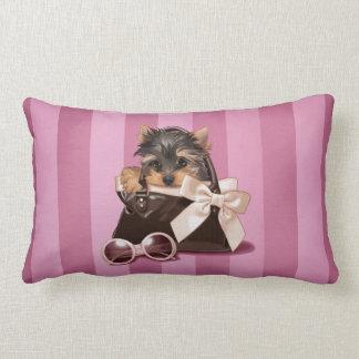 Perrito de Yorkshire Terrier Almohadas