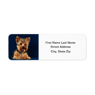 Perrito de Yorkshire Terrier Etiqueta De Remite