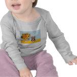 Perrito de Yorkshire Terrier - girasoles Camisetas