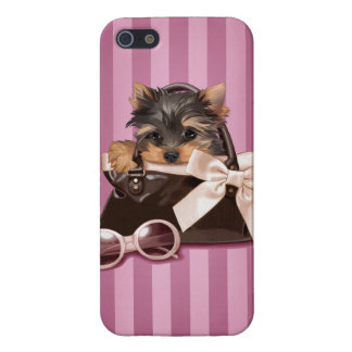 Perrito de Yorkshire Terrier iPhone 5 Carcasas