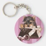 Perrito de Yorkshire Terrier Llaveros Personalizados