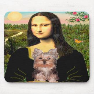 Perrito de Yorkshire Terrier - Mona Lisa Alfombrilla De Ratones