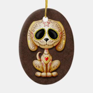 Perrito del azúcar del zombi de Brown Ornamento De Reyes Magos