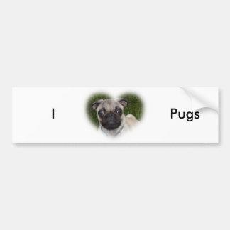 Perrito del barro amasado etiqueta de parachoque