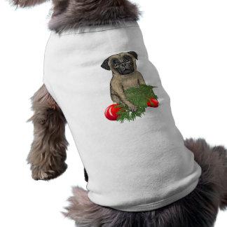 Perrito del barro amasado del navidad camisas de mascota