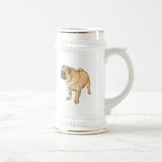 Perrito del barro amasado tazas de café