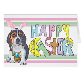 Perrito del beagle de Pascua Tarjeta Pequeña