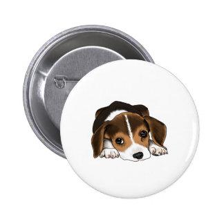 Perrito del beagle pin redondo de 2 pulgadas