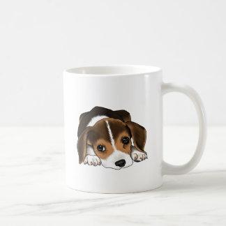 Perrito del beagle tazas de café