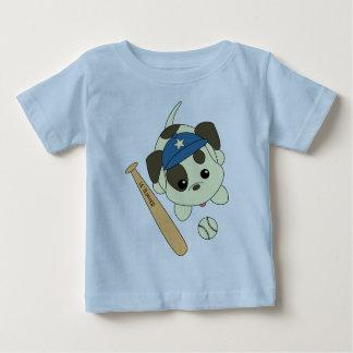 Perrito del béisbol camiseta