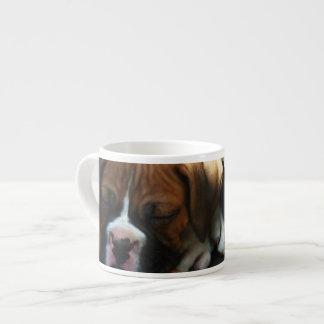 Perrito del boxeador taza espresso