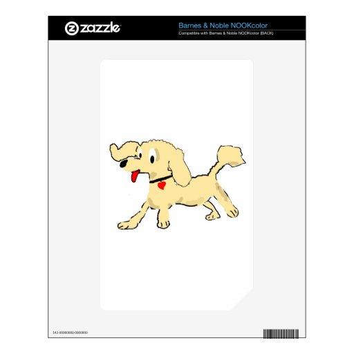 Perrito del caniche del albaricoque NOOK color calcomanías