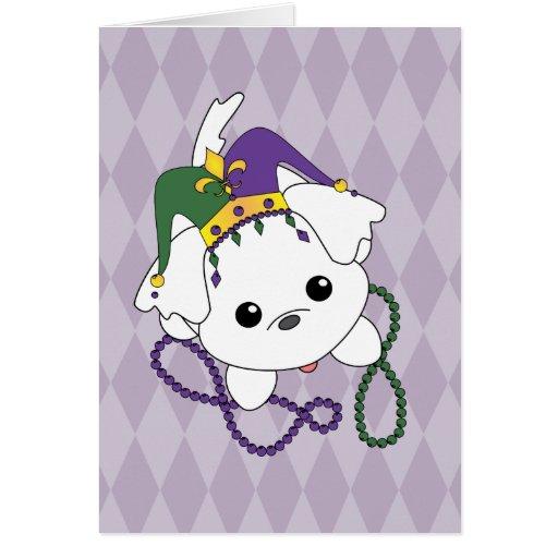 Perrito del carnaval tarjetas