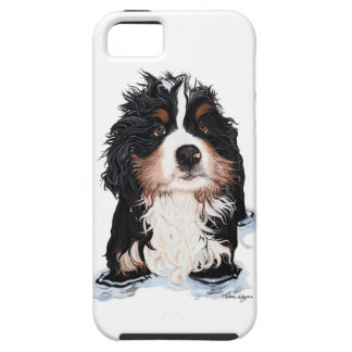 Perrito del caso del iPhone 5 del perro de montaña Funda Para iPhone 5 Tough