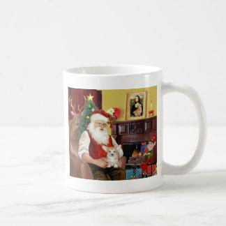 Perrito del Corgi de Santa en casa - Galés Tazas De Café