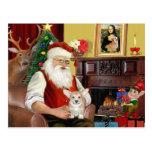 Perrito del Corgi Galés de Santa (Pemb) Postal