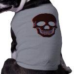 perrito del cráneo 3D Camisetas Mascota