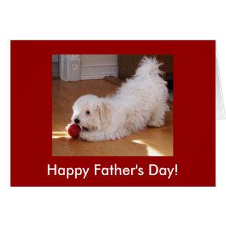 Perrito del día de padre tarjeta de felicitación